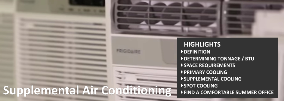 Supplemental Air Conditioning Commercial Real Estate Definition Footer
