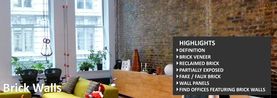 brick walls in office spaces definiton
