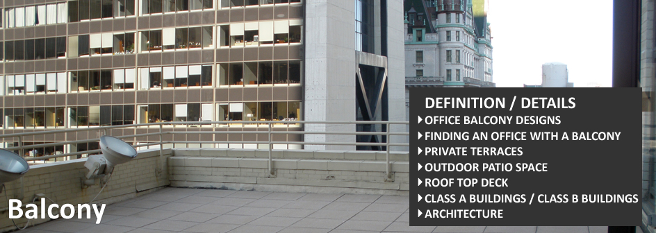 office balcony definition and image