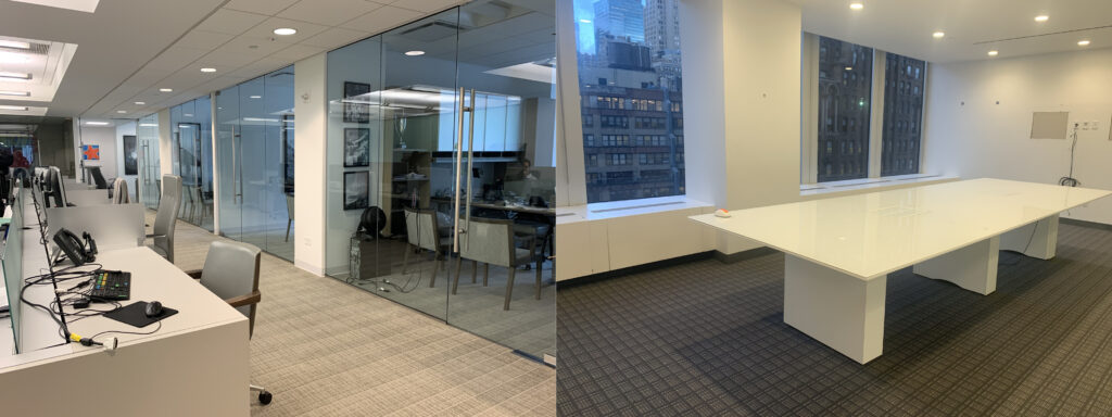 office space examples that feature carpeted floors