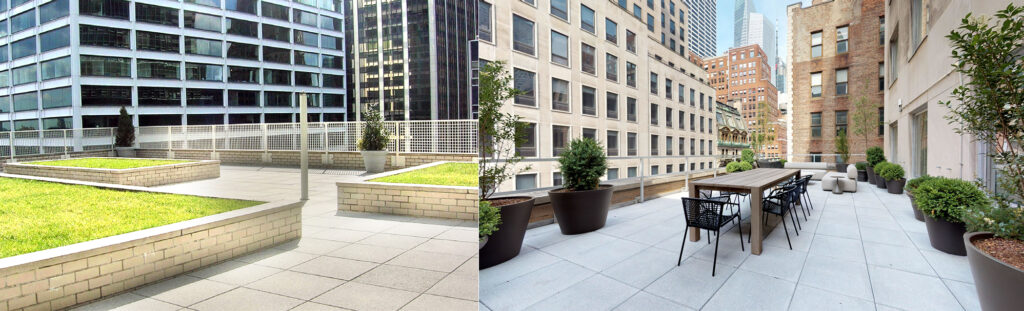 midtown Manhattan office spaces with balconies