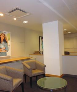 corporate reception area