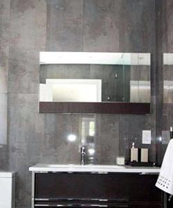 marbled tiles restroom