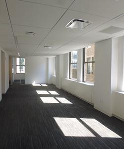 open layout floor plan commercial space