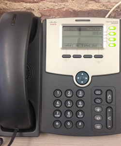 pre-wired for voice & data example item voip phone by cisco